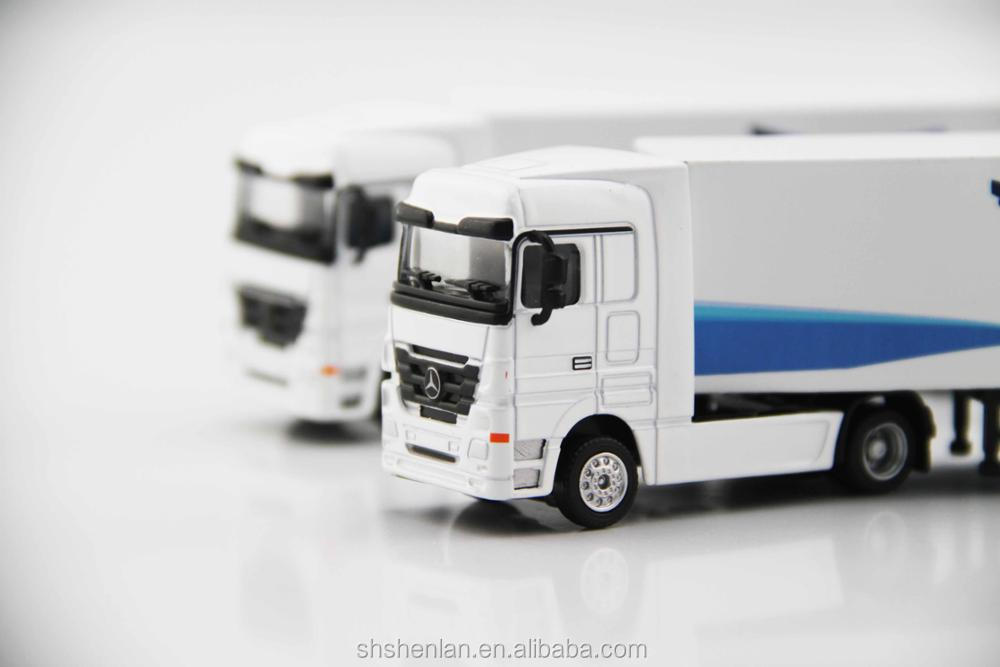Promotional gifts, 7.87 inches long, scale 1:87 miniature container truck custom made toy