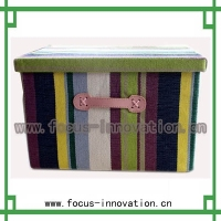Hot Selling!!!sewing pu leather box,foldable sewing storage box/sewing tool box/ leather sewing box