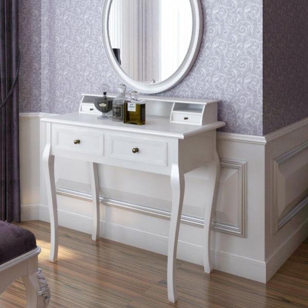 Modern Makeup Table-vanity Dresser-makeup Desk-dresssing With Seperate ...
