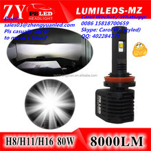 Now or Never Best Phi lips h4 led manufacturers led headlight 8000lm h11 9007 hb5 bulb led vs car light 60w 2017 xenon hid