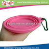 2017 Travel silicone collapsible dog bowls with carabiner