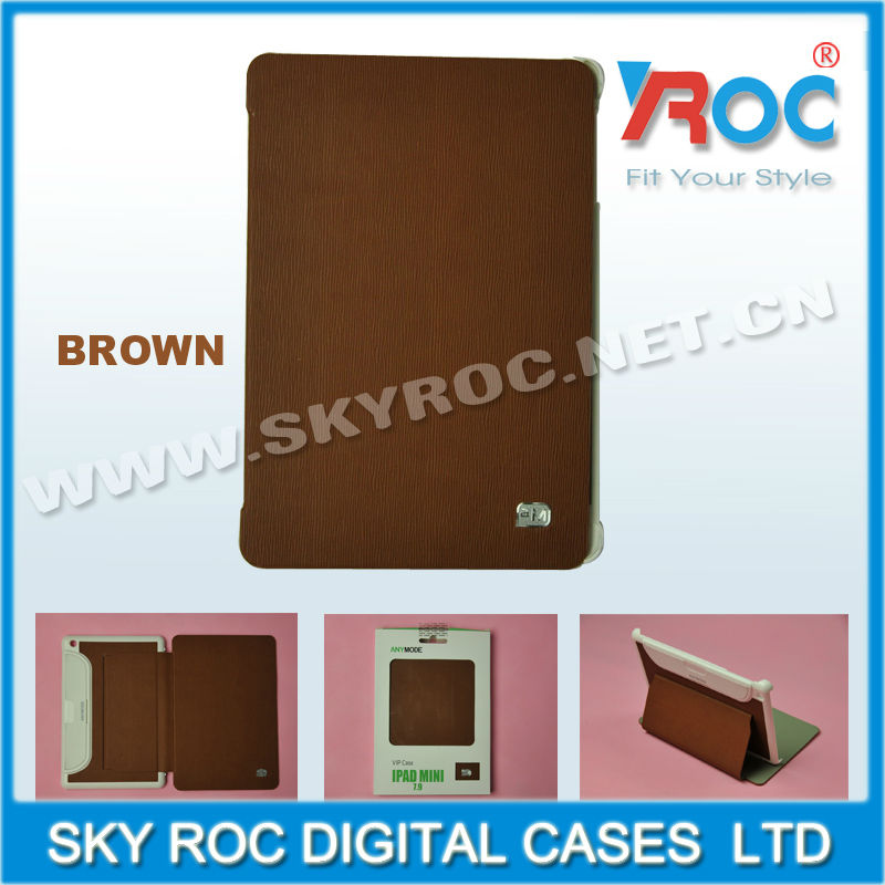 2013 Mobile phone accessories Leather case for apple ipad mini