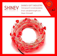 Fiber optic led string light for happy holiday