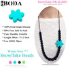 100% Food Grade Silicone Teether bead Necklace silicone pendant for baby-PT014