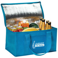 Picnic Lunch Bag With Foil Foam Bottle Cooler Bag