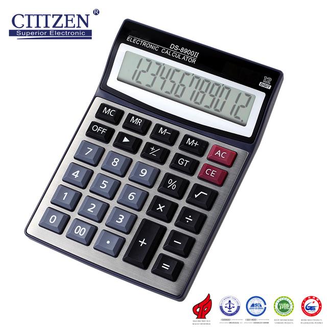 GTTTZEN Hot selling 12 digits solar battery desktop calculator with good looking DS-8900II