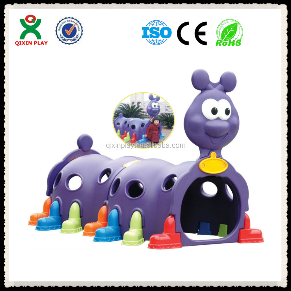 Children Plastic colorful play Train Tunnel for sale(QX-160D)