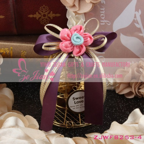 Wedding Candy Boxes Golden Birdcage Chocolate Boxes Metal Cage Candy Box