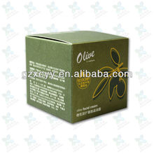Olive paper packing boxes for skin care products