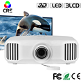 2017 Interactive reflective projection 3300 lumens 1080p 3d led projector with otg
