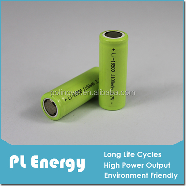3.7v 1100mah rechargeable lithium-ion battery pack 17500 18500