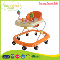 BW-14 factory direct sale big wheel rolling plastic baby walker seat cover wholesale