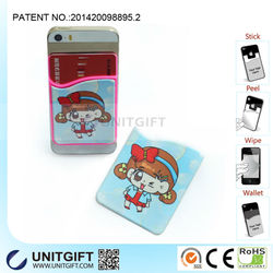 Wholesale Factory Price & Silicone Phone and Card Case With Screen Wiper