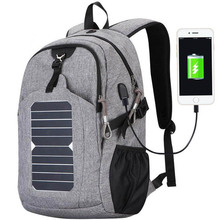 2018 Customize 7w leisure solar charging backpack with solar panel for sale