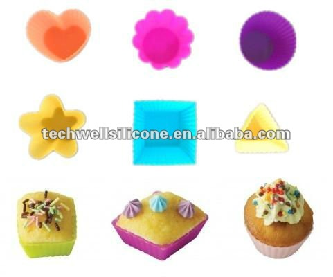 DIFFERENT Shaped silicone cupcake cases