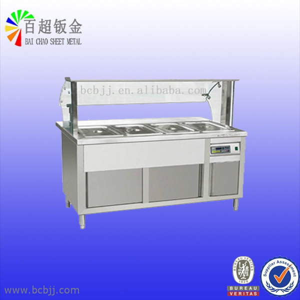 new product of stainless steel heat insulation table for meal with shield