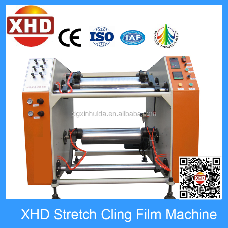 Stretch Film Rewinding and Slitting Machine; Film Rewinder