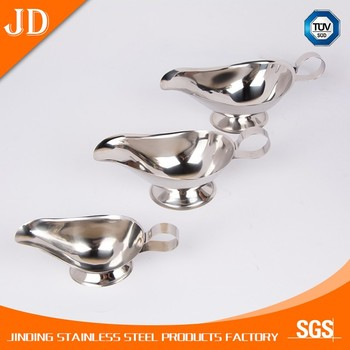 banquet silvery gravy boat tableware
