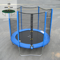 JianTuo Sports 6ft 8ft 10ft 12ft 13ft 14ft 15ft 16ft Trampoline Kids Trampoline With Safety Net