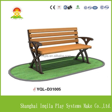 Outdoor park cast iron wooden garden bench