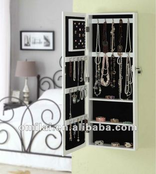 Over the Door Jewelry Armoire Mirror Cabinet