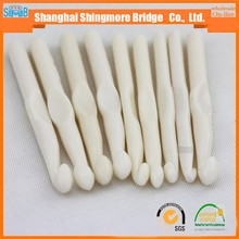 cheap wholesale high quality Ivory white crochet hook for hand knitting, needle tools for knitting scraf, sweater clothes