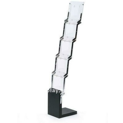 acrylic display literature rack (Iron base,folding)