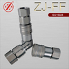 ZJ-FF ISO 16028 flush face dry break away quick double acting hydyaulic couplings for tractors