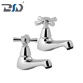 Brass Chrome Deck Mounted UK Market Sold In Pair Bathtub Taps Bathroom Cross Lever Bath Tap