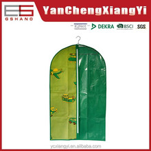 Boy 2015 printed nonwoven with PE Zip fly Children sweater Green travel Hot saling sleeping bag suit