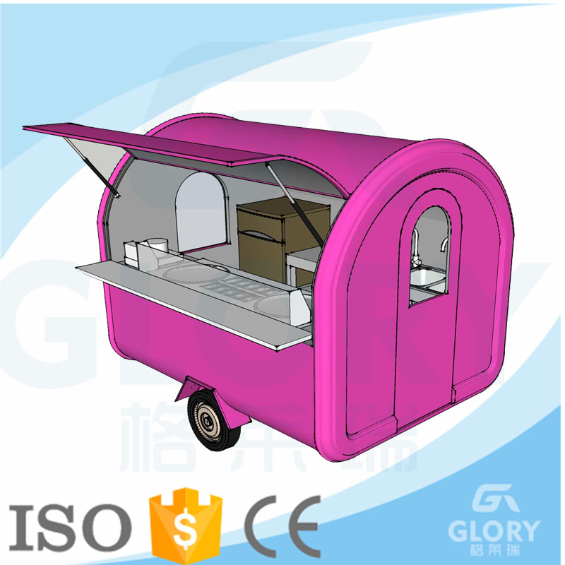 Snack Equipment Mobile Cart Food For Sale /Mobile Food Cart With Frozen Yogurt Machine