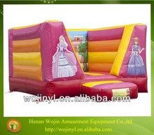 Inflatable princess bouncy castle/vinyl for bounce house