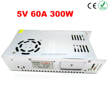 5V 60A output 300W Switching Power Supply Driver LED Adapter CCTV US4,DC5V 2812B 2801 8806 Lighting Transformers