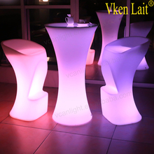 Hot sale event/party used high quality rbg changeable acrylic LED cocktail bar table
