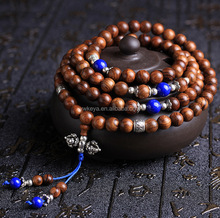 Unisex 108 Natural Wood 6mm 8mm Beads Bracelet Meditation Buddhist Rosary Mala Necklace