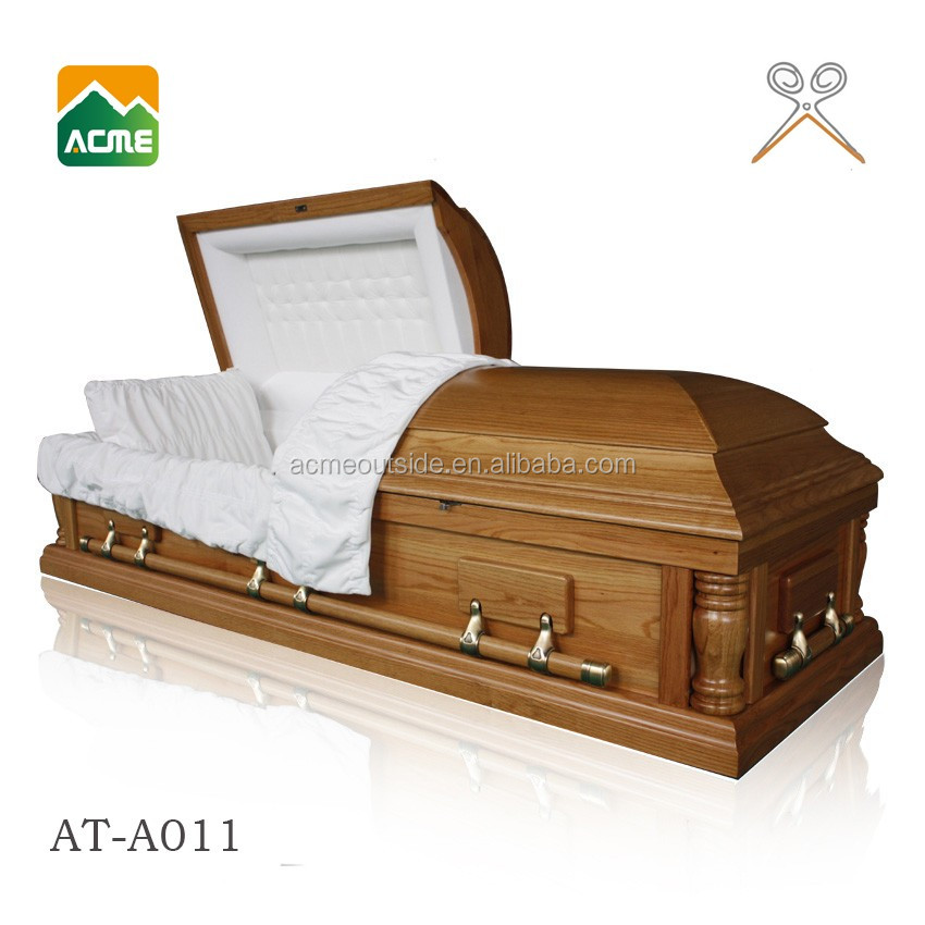 AT-A011 good quality funeral casket factory