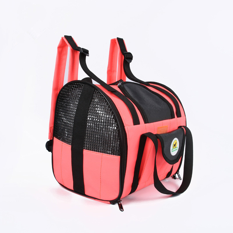 Exquisite Waterproof Foldable Dog Carrier Bag Travel Red