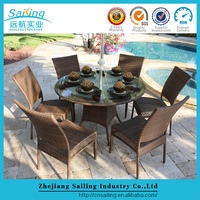 Stylish Design Patio Cane Furniture Clearance Sets Round Dining Table And Chairs Sale
