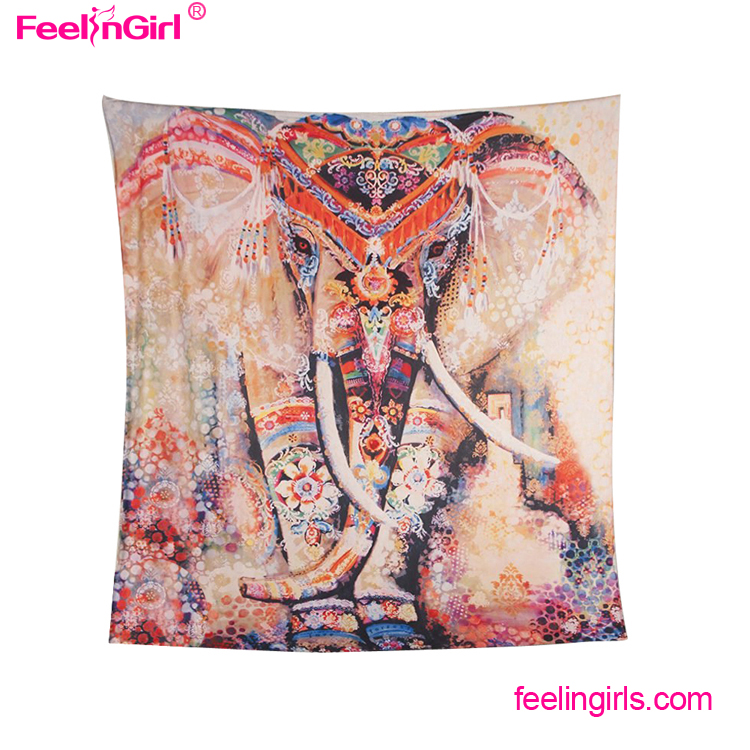 Indian Wall Hanging Bedspread Bohemian Elephant Mandala Wholesale Tapestry