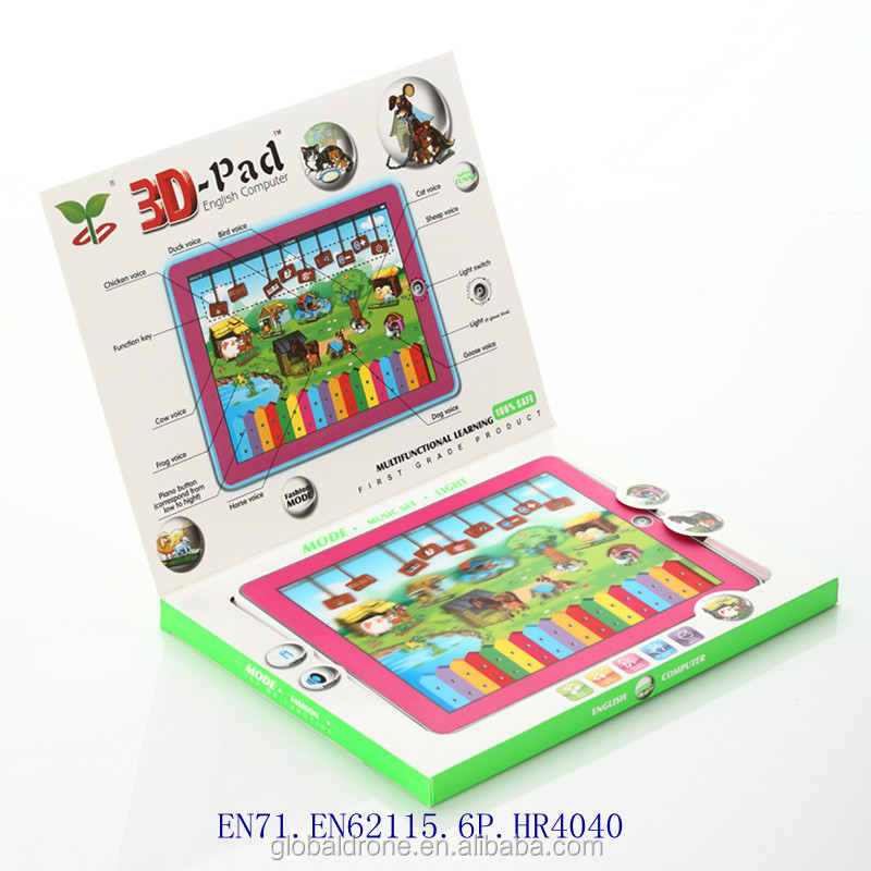 3D-Pad Happy Farm music toy electronic device toy with touch screen baby children educational intelligent toys