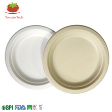 Compostable Biodegradable Sugarcane Dinnerware Bagasse Paper Pulp 7inch Round <strong>Plate</strong>