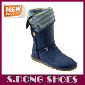 Latest fashion women denim boots