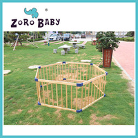 3 in 1 BABY PLAYPEN CHILD PET SAFETY PLAY YARD LINK 100 WOODEN TIMBER
