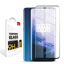 Hot selling 9H 3D toughened glass thin mobile phone screen protector for OnePlus 7 Pro