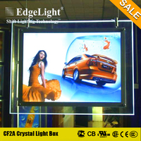Edgelight Ultra slim crystal plexiglass light box manufacturers with led moving sign for wholesale