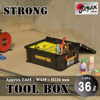 Tool box 36L Japan made with handle strong tool box storage case container stackable first aid kit tool box Canadian Tag 06