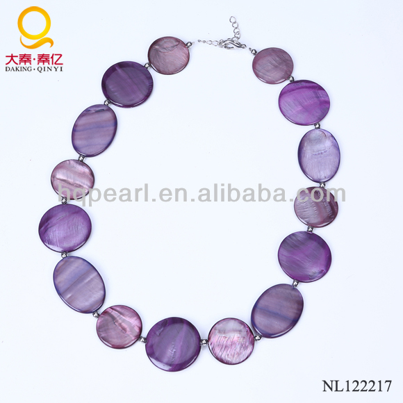 radiant orchid color shell pearl jewelry necklace