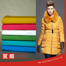 China supplier PU coating polyester down jacket fabric