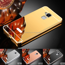 Luxury Hybrid Aluminum Metal Bumper Frame Mirror Back Cover Case For Asus Zenfone 3 Max