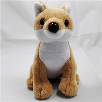 High quality custom logo and brand stuffed animal toy plush fox keychain